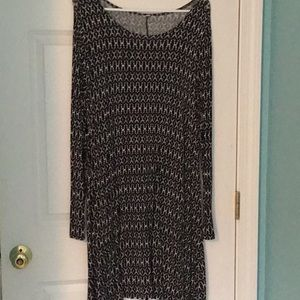 Old Navy brand black and white dress
